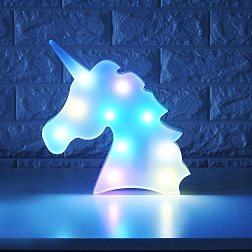 Colorful Unicorn Light Changeable Night Lights Battery Operated Decorative Marquee Signs Rainbow